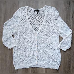 Jessica Simpson | white crochet sweater | 3X